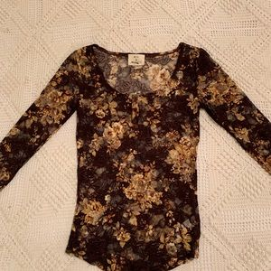 Pins and Needles knit lace top